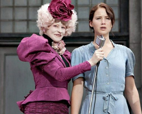 Katniss et Effie Trinket